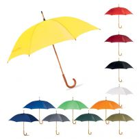 Classic Manual Wooden Crook Handle Umbrella